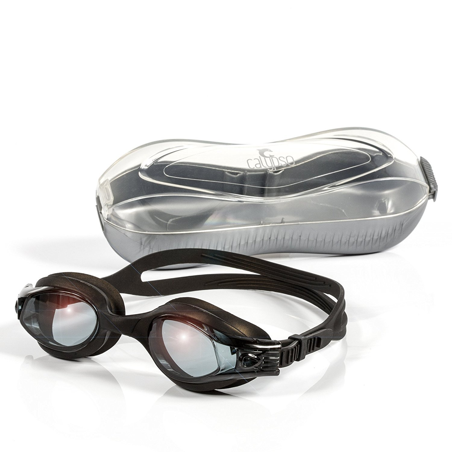 Swimming goggles for adults kids - swim goggles for men and women -anti fog tinted leakproof for triathlon racing and pool and underwater sports - Calypso