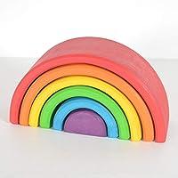 Chitrani's Rainbow Stacker 6 Piece - Nesting Wooden Waldorf Blocks, Elements of Nature