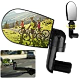 MAYOGA Bike Mirrors,Bicycle Rotary Rear View Mirror for Handlebars End, Safety Bar End Cycling Mirrors