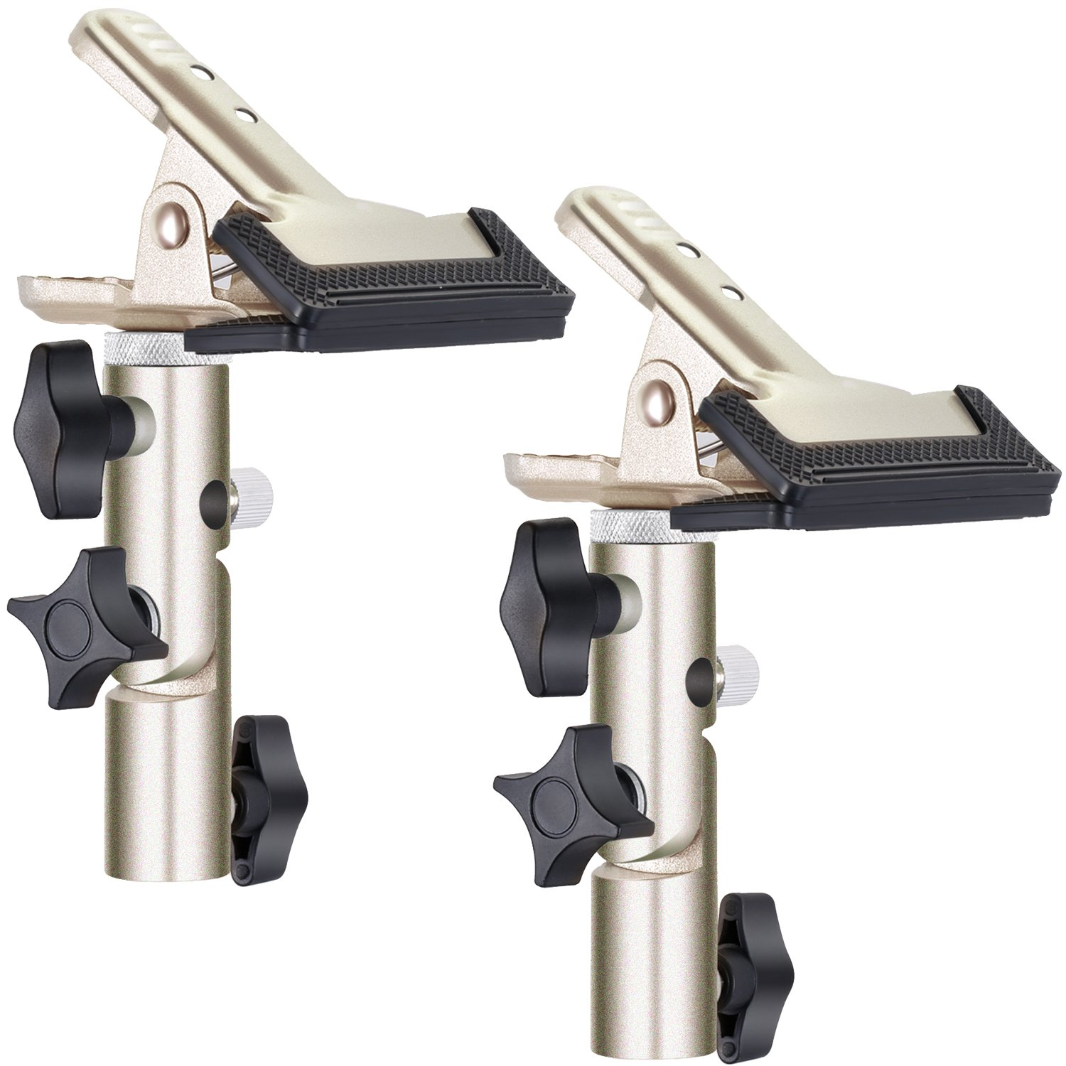 Neewer® 2 PCS Photo Studio Heavy Duty Metal Clamp Holder with 5/8' Light Stand Attachment for Reflector 90087337@@1058