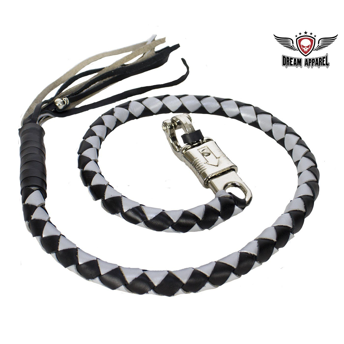 Pure Leather Biker Whip Get Back 36 Motorcycle Whip Get Back Whip Rope Gift Old School GBW6-11S