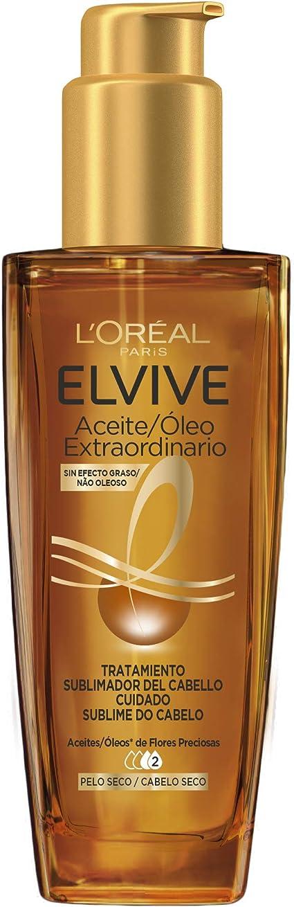 Oferta amazon: L'Oréal Paris - Elvive Aceite Extraordinario, Uso Universal para Todo Tipo de Cabellos, 100 ml