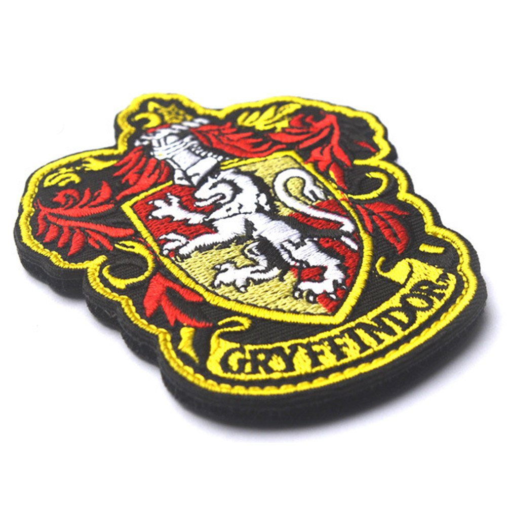 Harry Potter House of Ravenclaw and Gryffindor Hogwarts Crest Patch Full Color Iron-On Patches Applique for Coat Jacket Gear Cap Hat Backpack 3.94x3.15-Bubble 2 Pieces