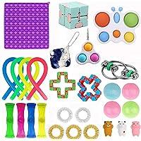 Fidget Toys Set, Cheap Fidget Pack with Big Size Push Pop Bubble & Butterfly Bubble, Stress Anxiety Relieve Sensory…
