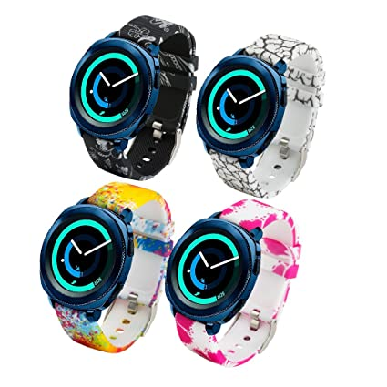 Correa de repuesto para smartwatch de Fit-power de 20 mm, compatible con Samsung Gear Sport, Samsung Gear S2 Classic, Huawei Watch 2 Watch y Garmin ...