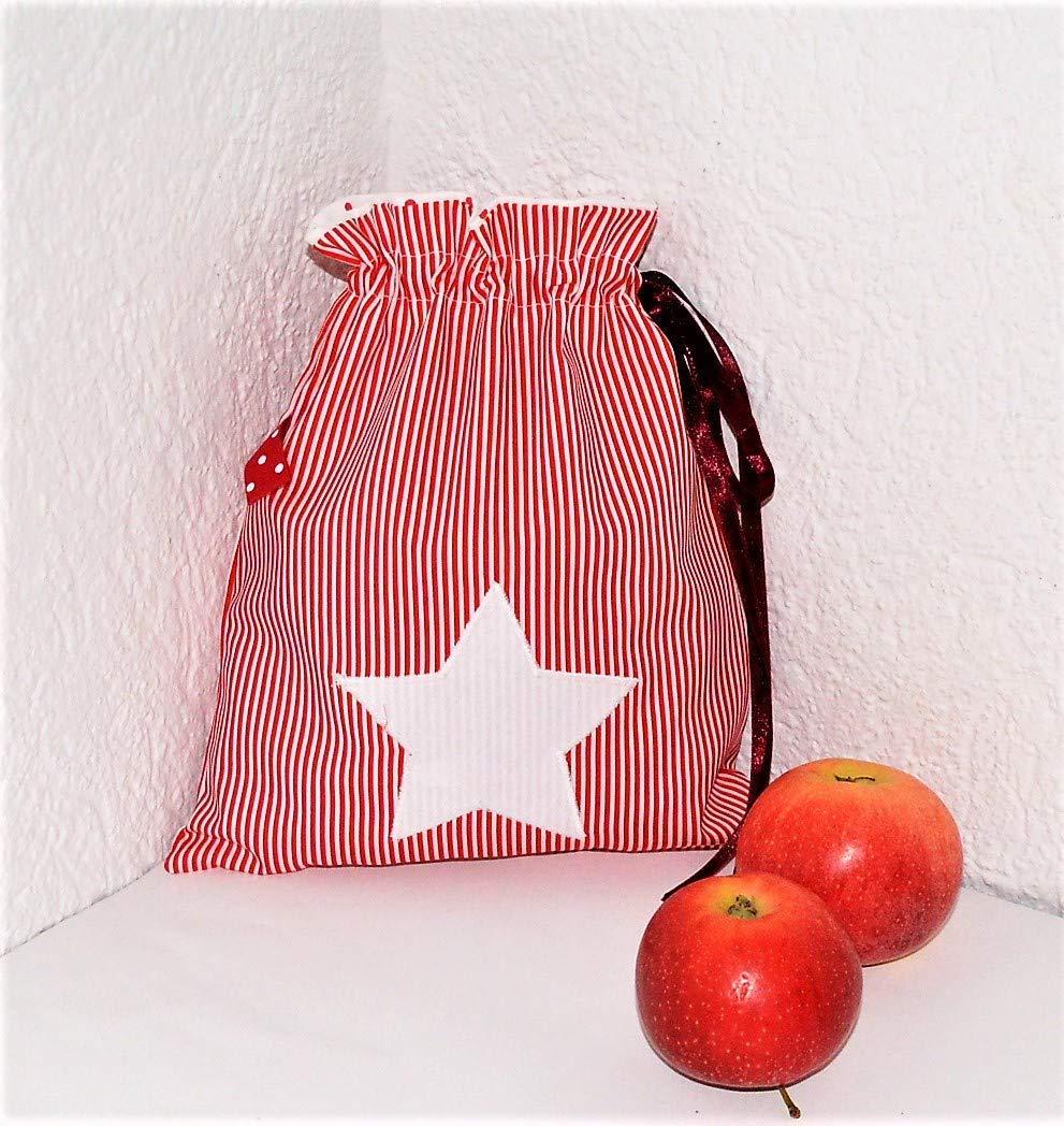 Geschenkverpackung, Weihnachtsbeutel, Nikolaussack aus Baumwollstoffen 20x25 cm, zum selberbefüllen. zum selberbefüllen.