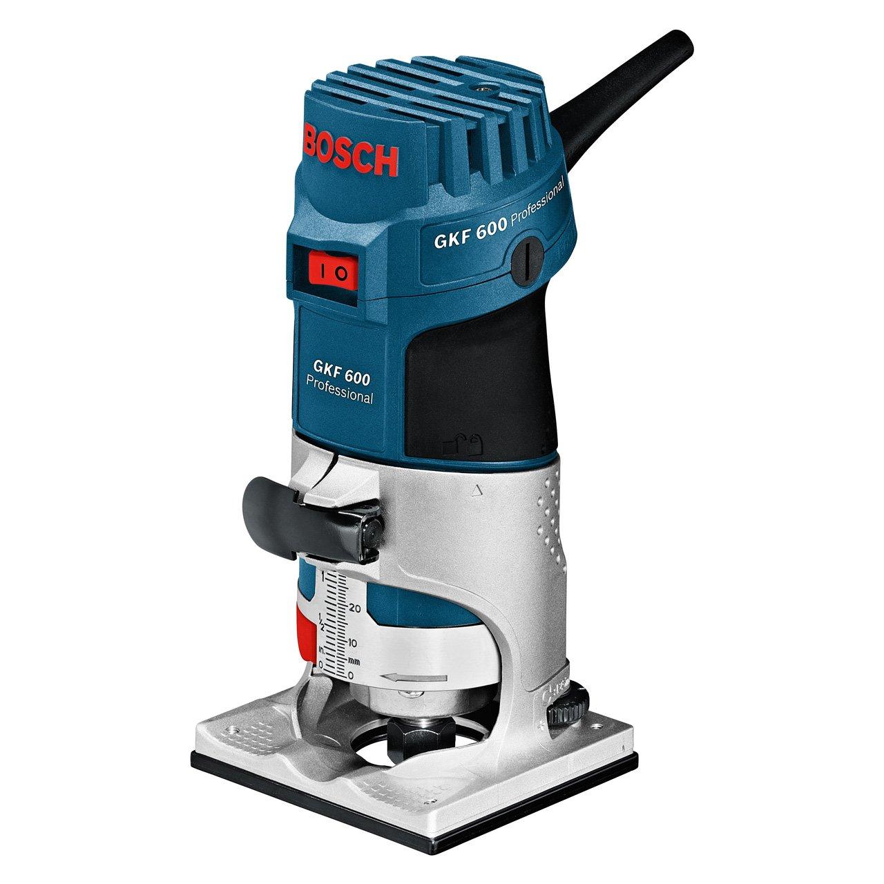 Bosch Professional GKF 600, 600 W Nennaufnahmeleistung, 33.000 min-1 Leerlaufdrehzahl, 6mm/8mm Werkzeugaufnahme, Fü hrungshilfe, L-BOXX 060160A102