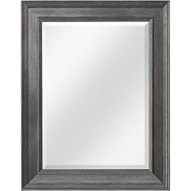 MCS 15.5x21.5 Inch Wall Mirror, 21.5x27.5 Inch Overall Size, Pewter (20448)