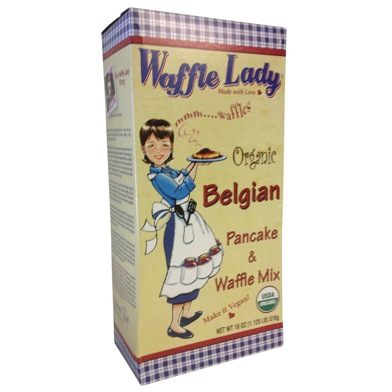 Waffle Lady Organic Belgian Buttermilk Pancake & Waffle Mix 18 Oz. Package