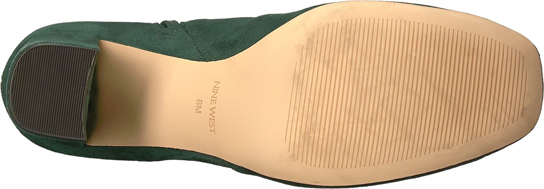 Nine West Women's Xperian B07174BLRQ 6.5 B(M) US|Dark Green Suede