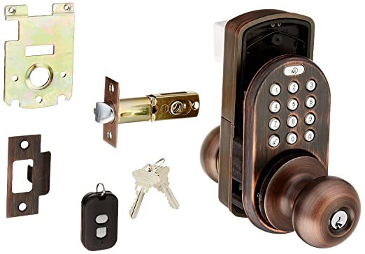milocks xkk 02sn digital door knob lock with keyless entry via