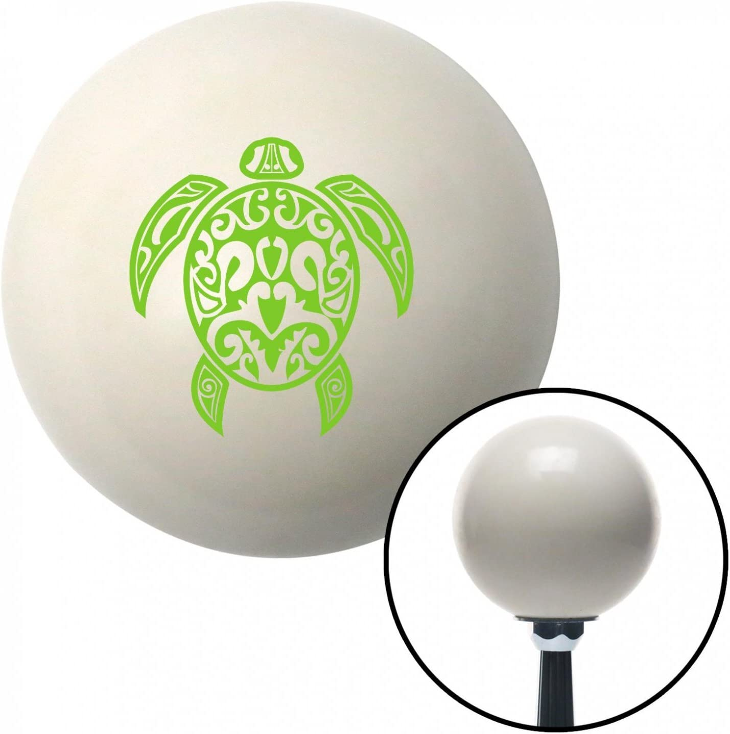 American Shifter 35264 Ivory Shift Knob with 16mm x 1.5 Insert Green Hawaiian Turtle