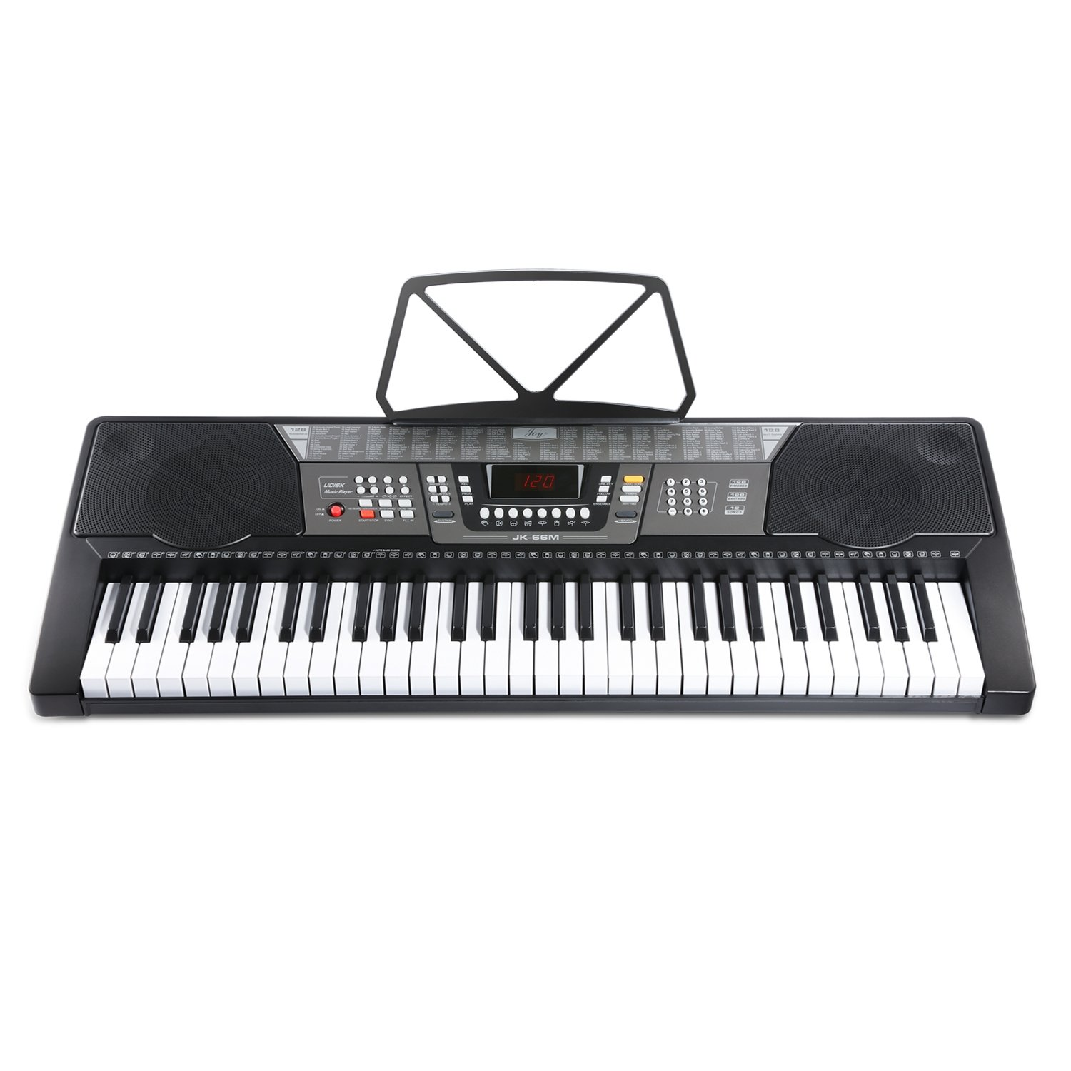 Joy JK-66M 61-Key Simulation Piano Electronic Keyboard Kit Including USB for Beginners,with Headphone,Stand,Stool,Power Suppply CHINA JOY KEYBOARDS CO. LTD JK-66M-KIT