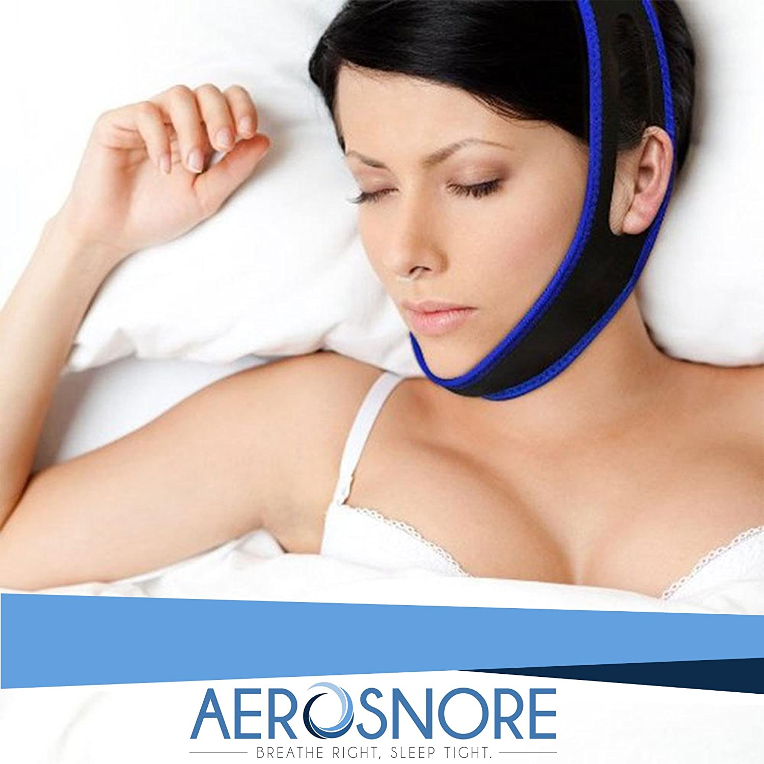 Anti Snoring Chin Strap - Premium Snore Stopper Guard for a Natural Snore Relief - Anti-Snoring Mask for Men and Women