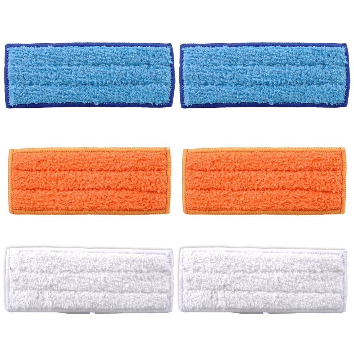Blasco 6 Pack Washable Reusable Mopping Pads Wet Damp Dry Sweeping Pads for iRobot Braava Jet 240 241