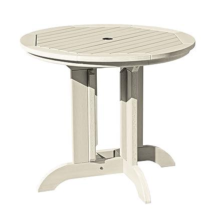 amazon com highwood round dining table 36 whitewash garden rh amazon com whitewashing outdoor furniture whitewashed outdoor furniture