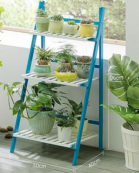 Soportes para Plantas- Soporte De Planta De Bambú para Interiores, Rack De Escalera De Flores De Múltiples Capas para La Sala De Estar (Tamaño : 50 * 40 * 96cm): Amazon.es: Hogar