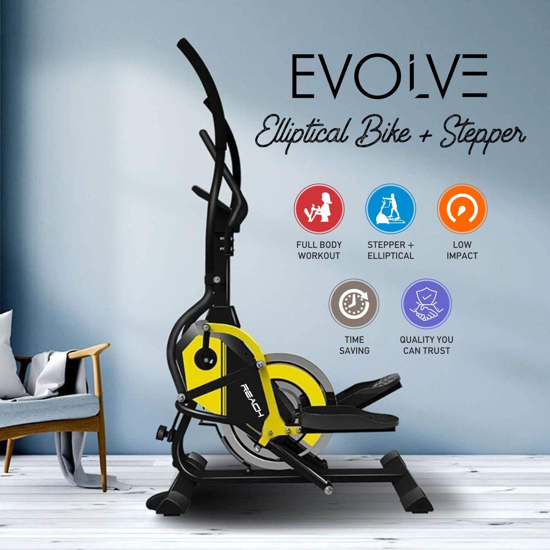 Reach Evolve Elliptical Climber Cross Trainer + Stepper Exercise Fitness Equipment