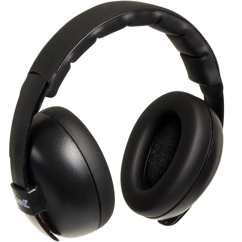 Baby Banz Infant Hearing Protection Sound Blocking Earmuffs (Black)