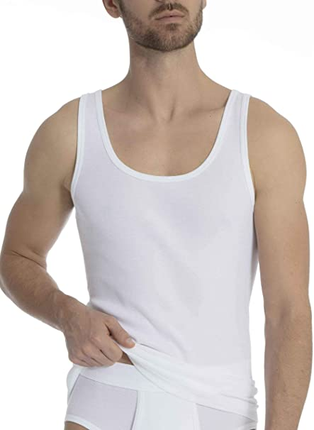 CALIDA Herren Athletic-Shirt 2er-Pack Classic Cotton 1:1 Unterhemd