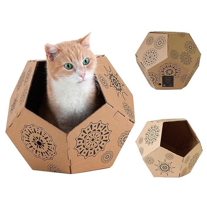 United Pets 8028945022859 Caja de Cartón para Gatos: Amazon.es: Productos para mascotas