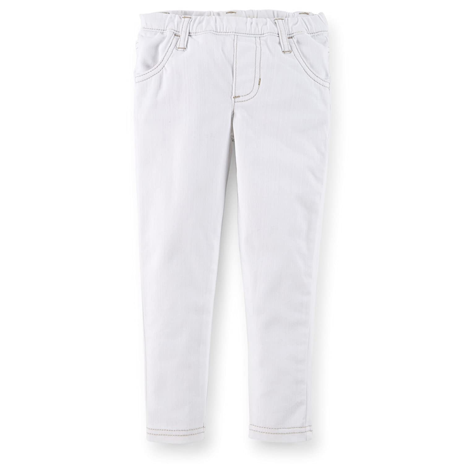 5 Size 5 White Carters Little Girls Stretch Twill Jeggings