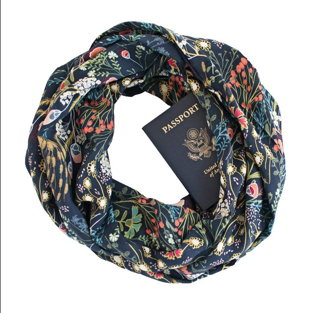 41d4bf3421 Thea ~ Infinity Scarf with ZIPPER SECRET POCKET