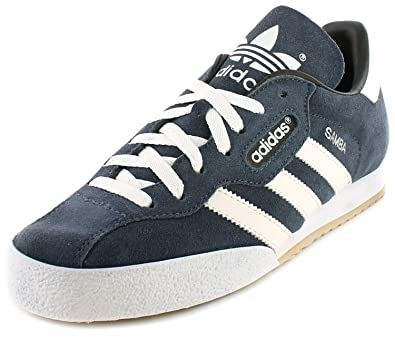 640dfe1cd Adidas Samba Super Suede Leather Indoor Soccer Shoes Trainers - Navy  Suede White - UK