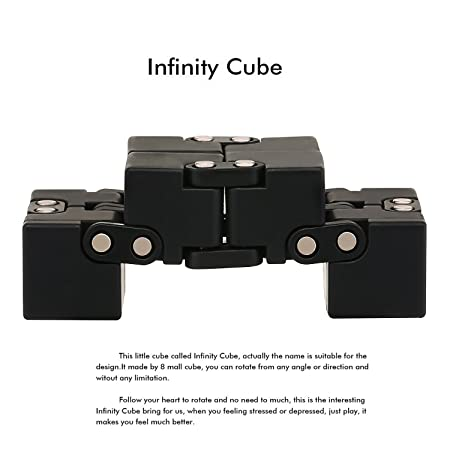 infinity cube amazon. amazon.com: samhity-fidget cube in style with infinity pressure reduction toy - turn spin edc fidgeting killing time toys infinite amazon