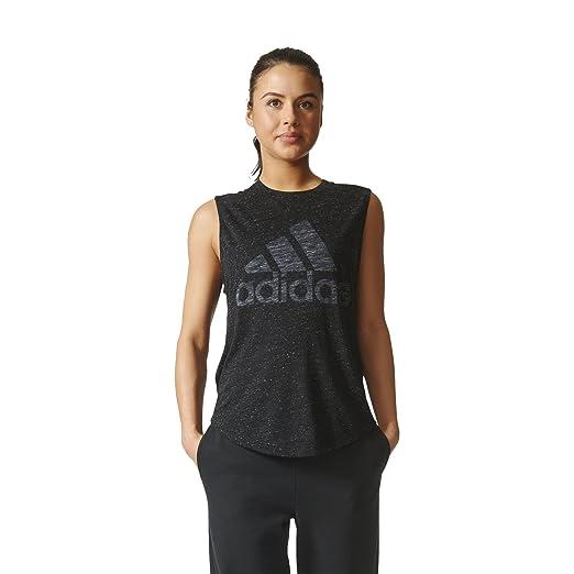 109a8189 Amazon.com: adidas Womens Athletics Graphic Drop Hem Muscle Tee: Clothing