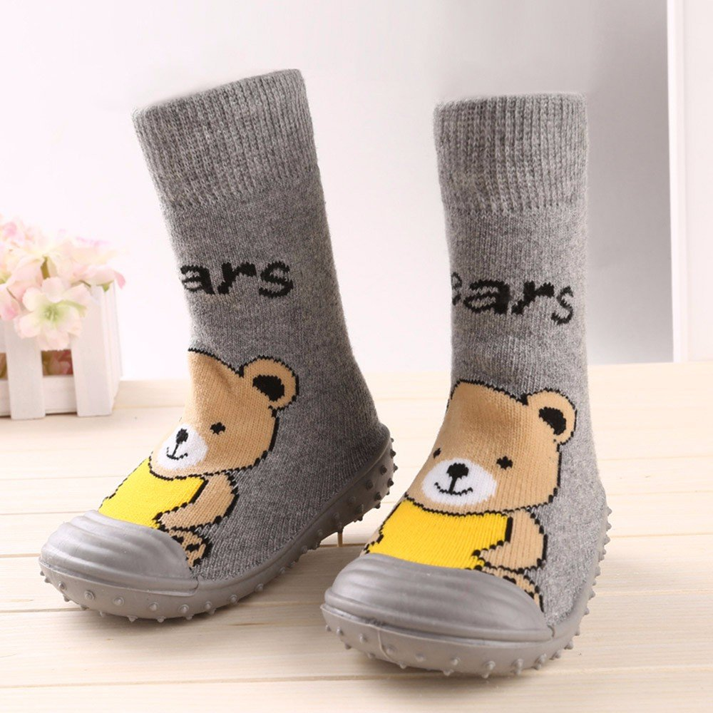 LianMengMVP Baby Winter Shoes Boy Girl Cartoon Cute Cartoon Penguin Shoe Toddler Shoes Socks Shoe Fashion Boots for First Walkers