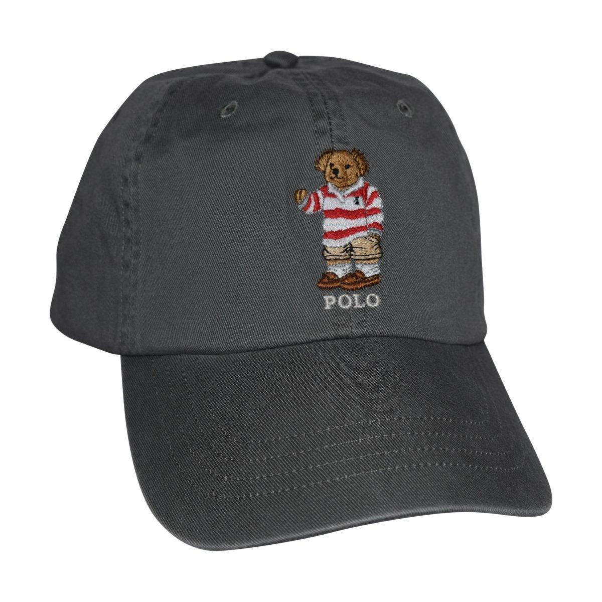 008b4d876 Polo Ralph Lauren Mens Teddy Bear Adjustable Ball Cap Hat (One Size,  Colgate Grey)