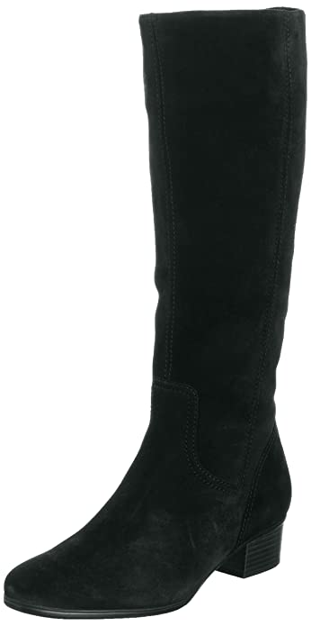 Gabor Toye Med, Women's Boots, Black Suede Micro ...