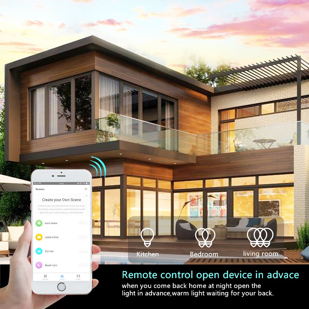 Wifi Light Switch Smart Wall 2 Gang Touch Remote Install A Dimmer Diagram Likewise Wiring 3 Way Control Compatible With Alexa Google Assistant And Ifttt No Hub Required Your