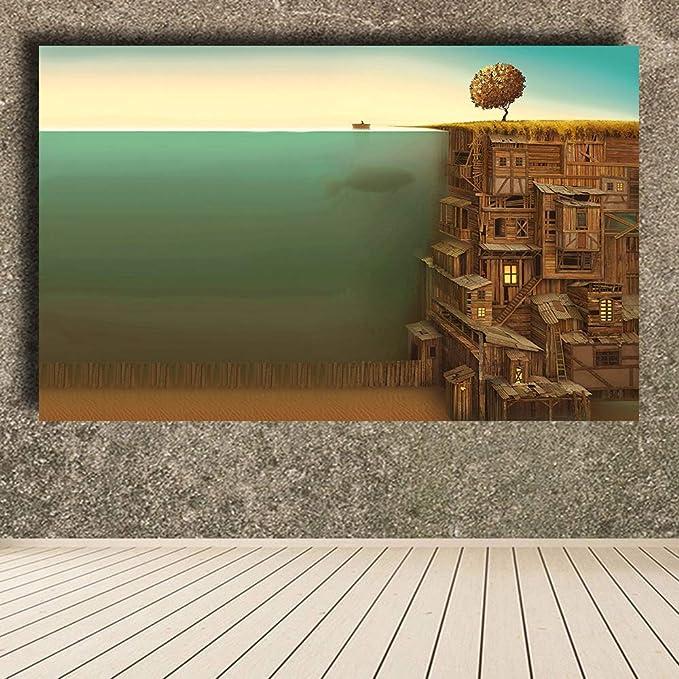 NIMCG Árboles Madera Pescado Surrealismo Obra Submarina ...