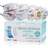 Mascarilla Quirurgicas Made In Italy, Mascarillas Colores para Adultos 50 Piezas, Mascarillas Desechables Con Elásticos…
