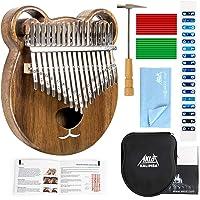 AKLOT Kalimba 17 Clés Touches, Enfant Marimbas Doigt En Bois Massif Pouce Piano Professionnel Kits Startup Instrument Africain Avec Kits Complets Instrument De Musique Cadeau