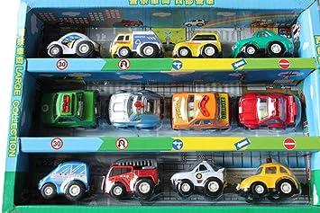 JT-Amigo Pack de 12pcs Juguetes de Coches Mini Vehículos de ...