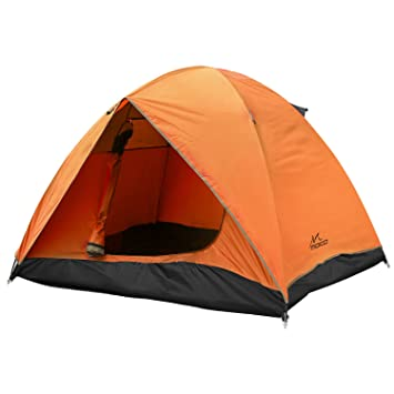 Moko Waterproof Family Camping Tent Portable 3 Person Outdoor Instant Cabin Tent 4 Season Double Layer Dome Tent Sun Shelter For Hiking