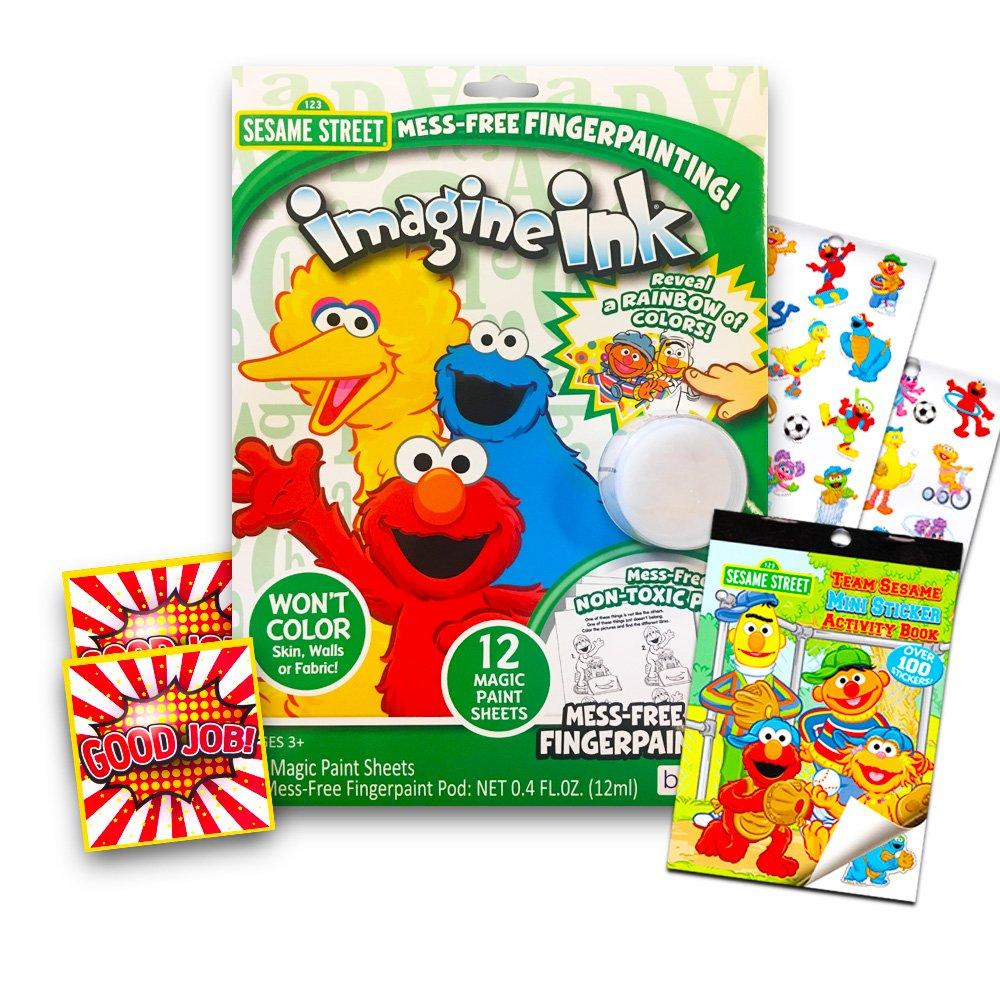 Amazon.com: Sesame Street Mess Free Finger Paint Set -- No Mess ...