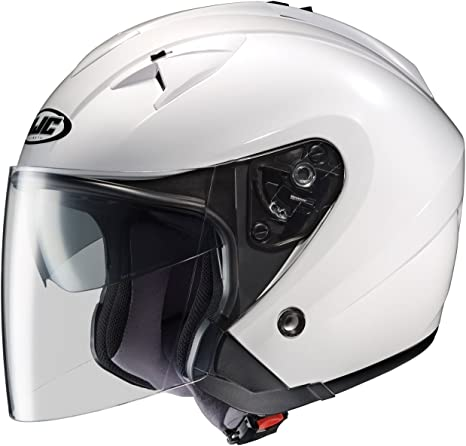 HJC IS-33 II Open-Face Motorcycle Helmet Silver, Large