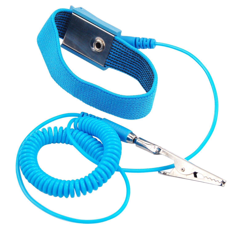 TRIXES Antistatische Handschlaufe Armband gegen statische Aufladung Entladung f/ür PC