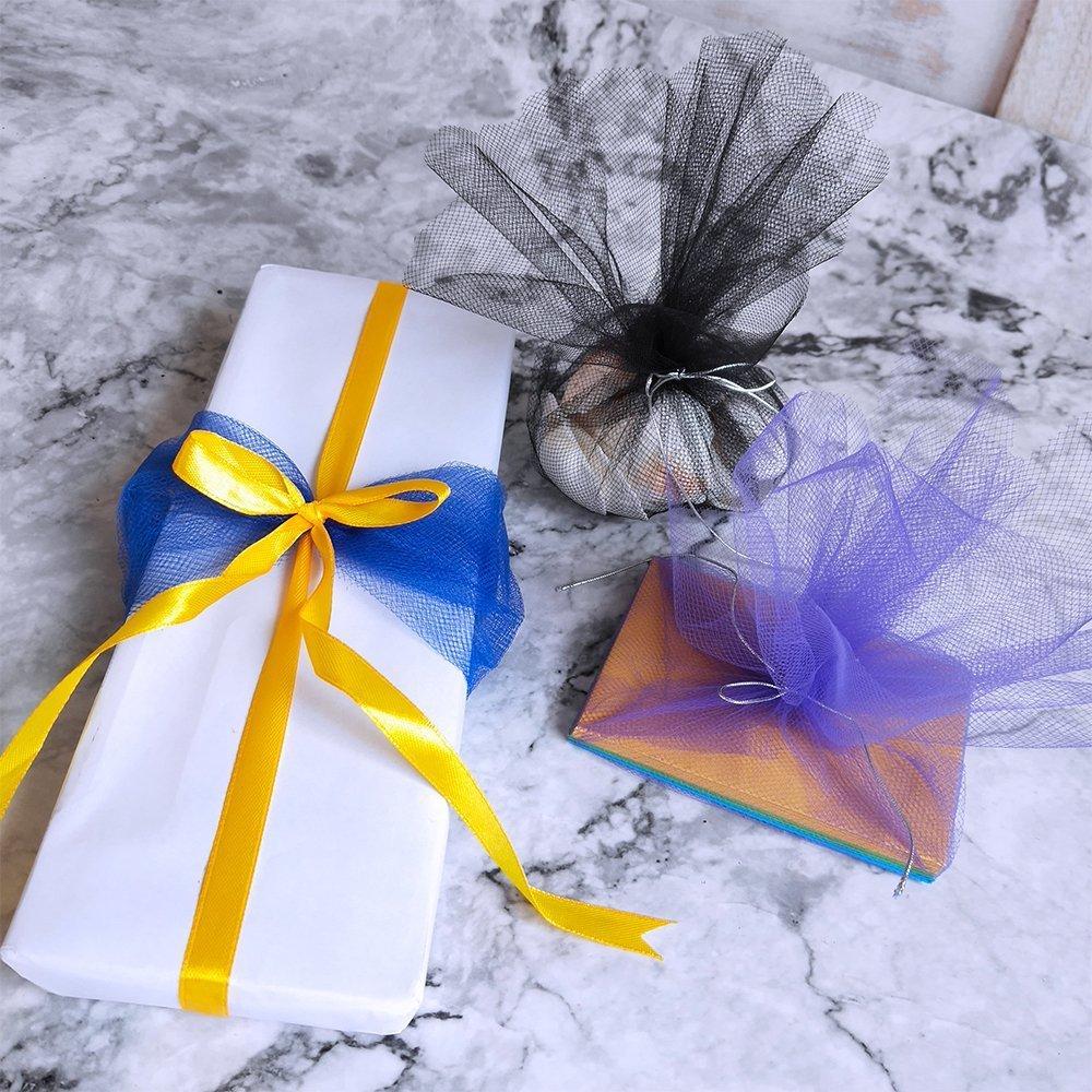 10 DIY Tulle rotoli Tulle Nastro Tulle decorazione tessuto tavolo nastro decorativo nastro Tulle per matrimonio Party banchetto Gonna Abbigliamento Decorazione Artigianato