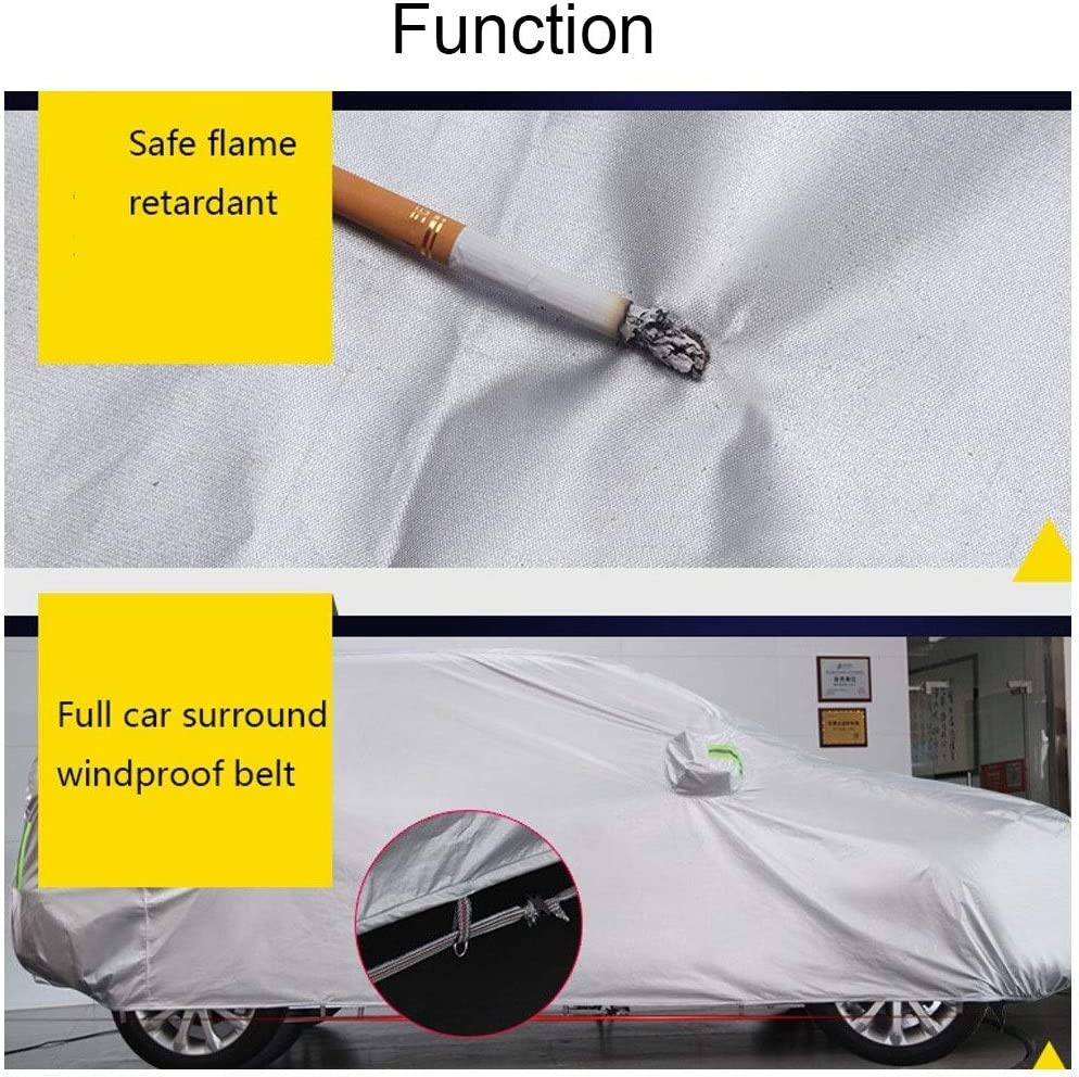 Car cover Compatible with Mercedes-Benz 450SL Convertible car cover thickening and velvet heating Private cust rain protection heat insulation silver plating sun protection Oxford cloth surface