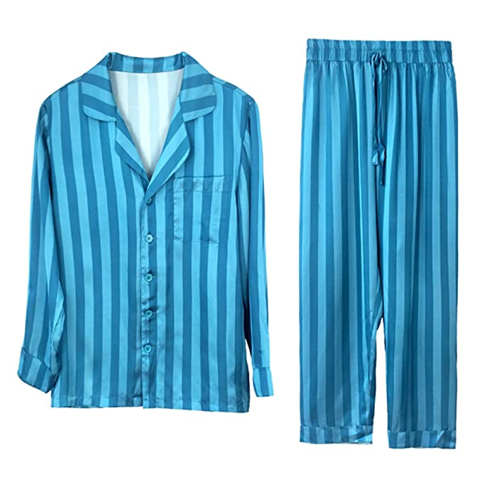 Bata Pijamas De Damas Albornoz Bata Pijamas Suaves Pijamas De Seda Hombres Pantalones De Manga Larga De Dos Piezas Pijamas De Verano: Amazon.es: Ropa y ...