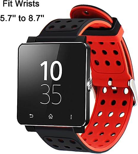TRUMiRR 24mm Silicona Goma Banda de Reloj de Doble Lado Llevar ...