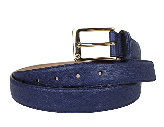 9a795a71b Gucci Men's Square Navy Blue Leather Belt with Buckle 345658 4232 (105/42):  Amazon.ca: Clothing & Accessories