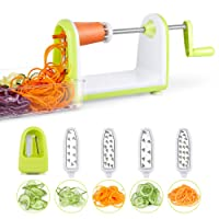 SimpleTaste Spiral Slicer 5 Blades Spiralizer, Vegetable Cutter and Shredder for Zucchini Noodles, Veggie Spaghetti, Pasta
