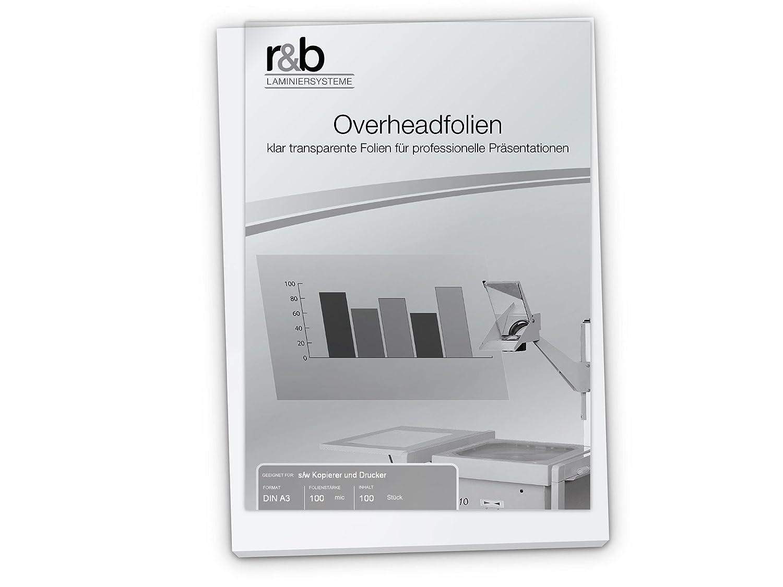 Láminas transparentes de R&B, tamaño DIN A3, 100 micras de grosor ...