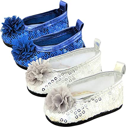 Fashion Sequins Shoes Flats Shoes For 18 Inch AG American Doll Dolls Accessory